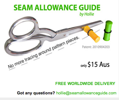 tutorial magnetische seam allowance guide for scissors